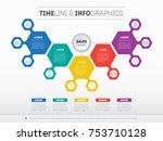business presentation concept... | Shutterstock .eps vector #753710128