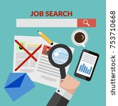 searching job concept hand... | Shutterstock . vector #753710668