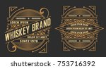 set of labels. western style | Shutterstock .eps vector #753716392