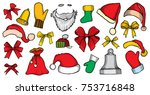 colorful patch badges of... | Shutterstock .eps vector #753716848