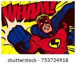 pop art comic book style... | Shutterstock .eps vector #753724918