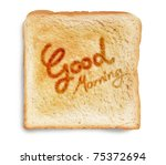good morning greeting on... | Shutterstock . vector #75372694