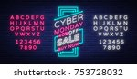 cyber monday  discount sale... | Shutterstock .eps vector #753728032