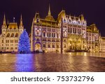parliament in budapest hungary  ... | Shutterstock . vector #753732796