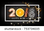 2018 new year design creative... | Shutterstock .eps vector #753734035