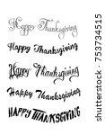 thanksgiving typography hand... | Shutterstock .eps vector #753734515