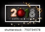 creative 2018 new year design... | Shutterstock .eps vector #753734578