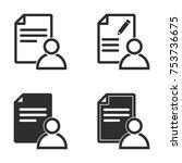 registration vector icons set....   Shutterstock .eps vector #753736675
