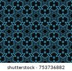 modern geometric ornament.... | Shutterstock . vector #753736882