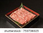 kobe beef japanese food | Shutterstock . vector #753738325
