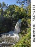 minnehaha waterfall in... | Shutterstock . vector #753741595