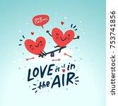 couple in love. two happy... | Shutterstock .eps vector #753741856