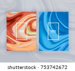marble texture covers set.... | Shutterstock .eps vector #753742672