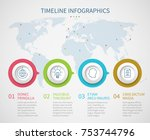 business chart timeline with... | Shutterstock .eps vector #753744796