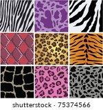vector animal skin texture | Shutterstock .eps vector #75374566
