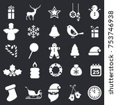 set of christmas icons.... | Shutterstock .eps vector #753746938