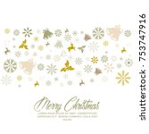 merry christmas and happy new... | Shutterstock .eps vector #753747916