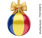 3d rendering christmas ball...   Shutterstock . vector #753749872