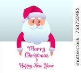 santa claus cartoon in flat...   Shutterstock .eps vector #753752482