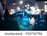close up of businessman hands... | Shutterstock . vector #753753796