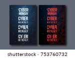 cyber monday background with... | Shutterstock .eps vector #753760732