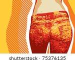 denim background for design... | Shutterstock .eps vector #75376135