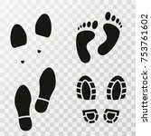 footprint shoes. footsteps.... | Shutterstock .eps vector #753761602