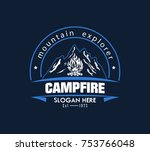illustration for sport camping  ... | Shutterstock .eps vector #753766048