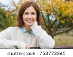 attractive happy thoughtful... | Shutterstock . vector #753773365