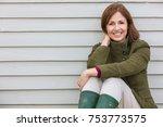 portrait shot of an attractive  ...   Shutterstock . vector #753773575