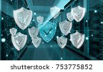 white and blue firewall... | Shutterstock . vector #753775852