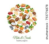 poster round template with nuts ... | Shutterstock .eps vector #753776878