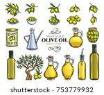 set vector hand drawn olives ... | Shutterstock .eps vector #753779932