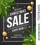 christmas sale poster banner...   Shutterstock .eps vector #753781642