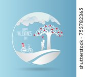 valentine day   concept two... | Shutterstock .eps vector #753782365