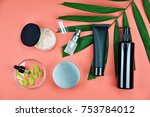 cosmetic bottle containers with ... | Shutterstock . vector #753784012