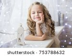 sweet girl surrounded by...   Shutterstock . vector #753788632