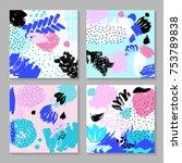 set of creative card template... | Shutterstock . vector #753789838