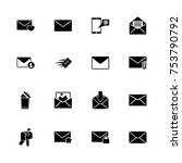 mail icons   expand to any size ...   Shutterstock .eps vector #753790792