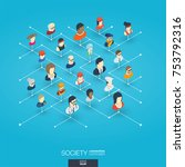 society integrated 3d web icons.... | Shutterstock .eps vector #753792316