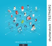 healthcare  integrated 3d web... | Shutterstock .eps vector #753794092