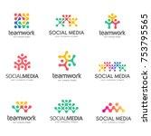 set of vector logo design for... | Shutterstock .eps vector #753795565