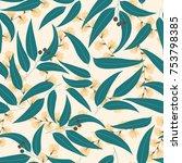 seamless floral pattern.... | Shutterstock .eps vector #753798385