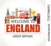 england lettering sights... | Shutterstock .eps vector #753798892