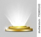 podium on a transparent... | Shutterstock .eps vector #753805102