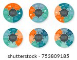 vector circle infographics... | Shutterstock .eps vector #753809185
