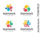 vector abstract logo design.... | Shutterstock .eps vector #753809815