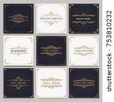 monogram creative cards... | Shutterstock .eps vector #753810232