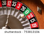 macro shot of a roulette in a... | Shutterstock . vector #753813106