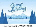 vector illustration. winter... | Shutterstock .eps vector #753815092